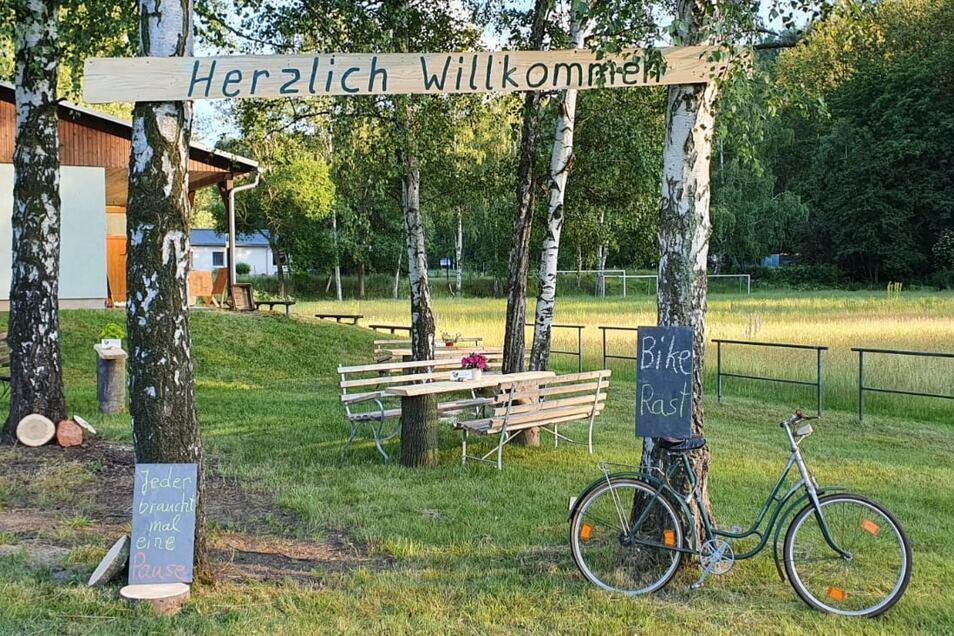 Am ehemaligen Fußballplatz in Bärenstein ist ein neuer Rastplatz entstanden.