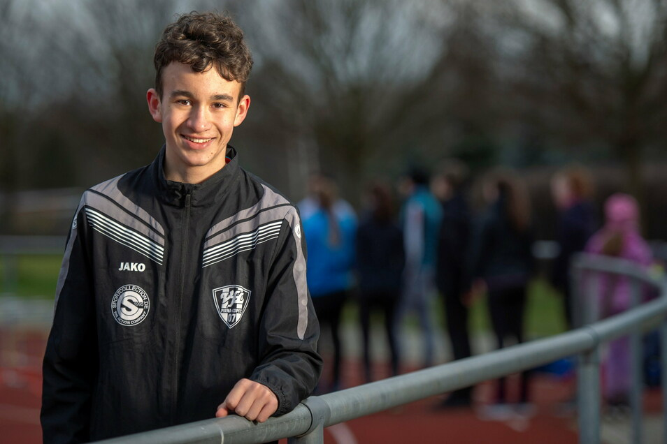 Der Pirnaer Aron Schneider wird von seiner Mutter Mandy trainiert. Beide hoffen auf eine baldige Rückkehr ins Willy-Tröger-Stadion.