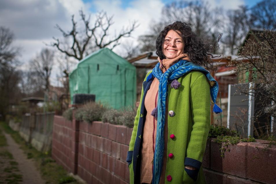Angelique Walter sucht zunehmend verzweifelt einen Kleingarten in Dresden.