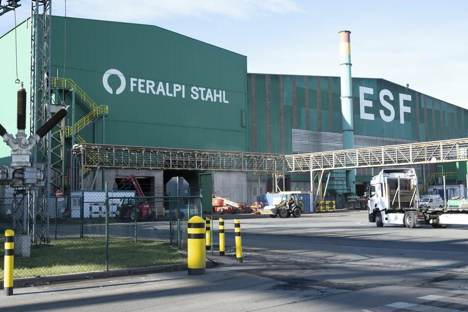 Feralpi gibt in Riesa insgesamt rund 700 Beschäftigten Arbeit.