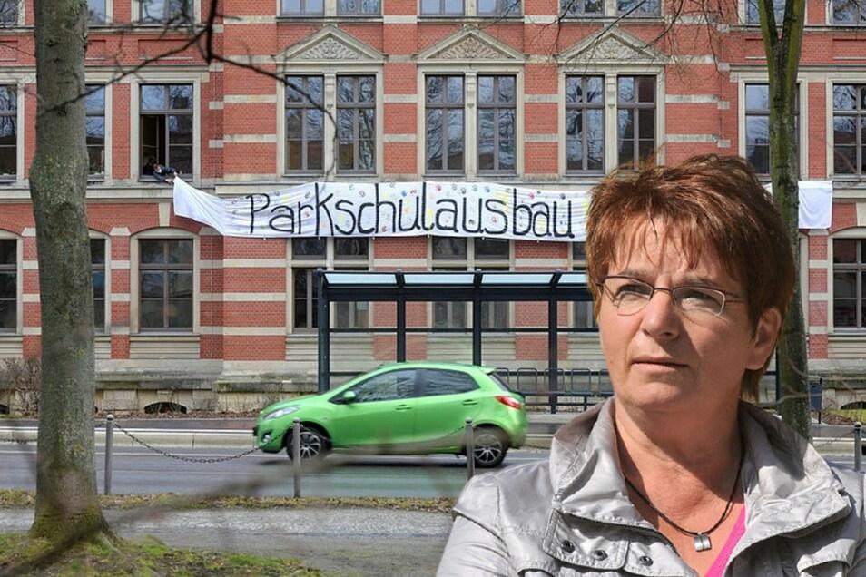 Zweimal hat der Zittauer Stadtrat den Ausbau der Parkschule mehrheitlich abgelehnt. Diskutiert wird darüber immer noch - auch mit Karin Berndt.