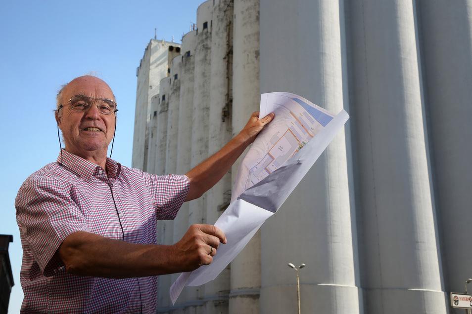 Im Juni stellte Michael Andris erstmals seine Pläne für das Muskatorgelände vor. Mittlerweile verhandelt er mit drei Eigentümern über den Kauf der Teil-Areale.