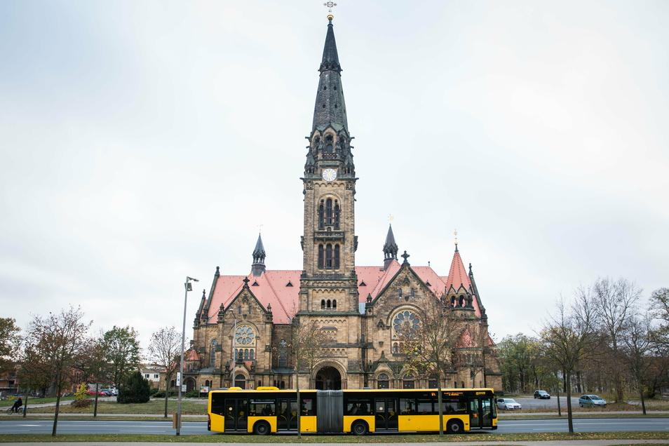 Ästhetischer Geheimtipp an der Stauffenbergallee: die Garnisonkirche.