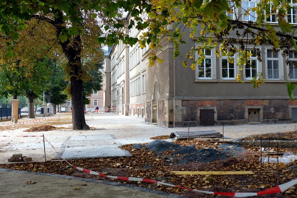 Die Herbstferien werden genutzt, um die Bauarbeiten weitgehend abzuschließen.