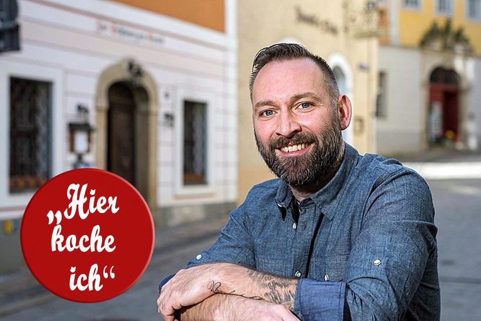 """Robert Chylla betreibt die Schankwirtschaft """"Zur Schwarzen Kunst"""" in Görlitz."""