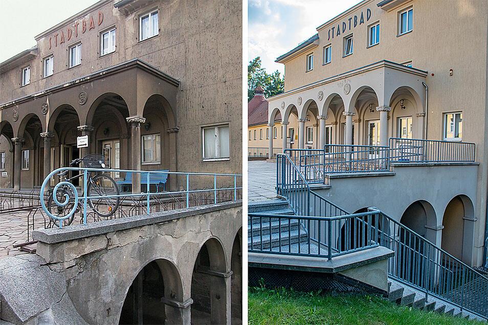 Alt und neu: Das Döbelner Stadtbad wurde in zehn Jahren komplett saniert.