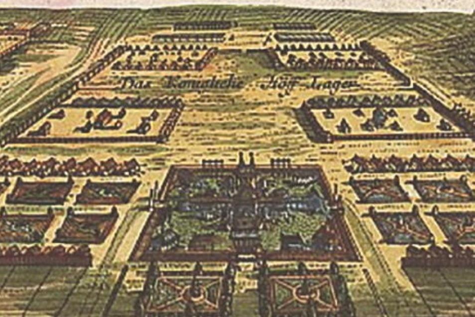 Das königliches Hoflager auf der Radewitzer Düne.