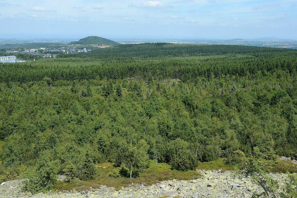 Der Blick vom Kahleberg.