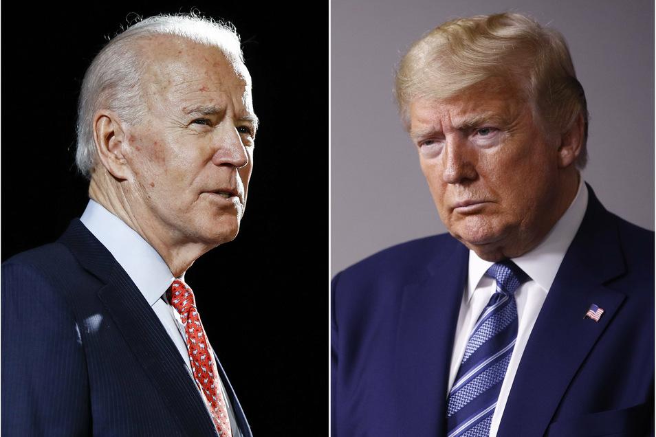 Am Donnerstag treten Joe Biden (l) und Donald Trump in einem weiteren TV-Duell gegeneinander an.