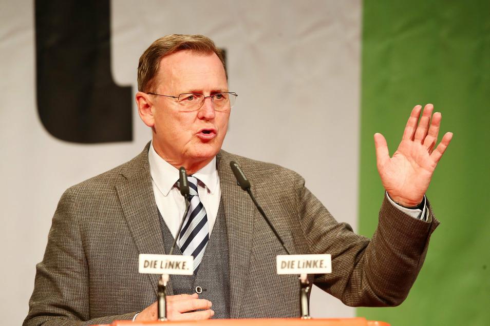 Bodo Ramelow war umjubelter Gastredner auf dem Parteitag.