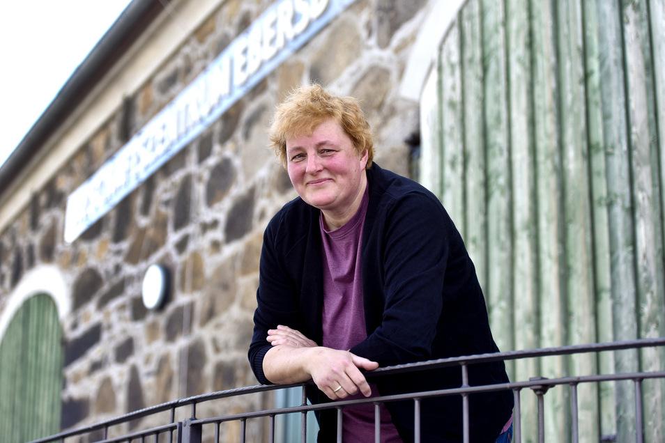 """Steffi Krenzin ist die Vorsitzende des neu gergündeten Vereins """"Wir Ebersdorfer""""."""