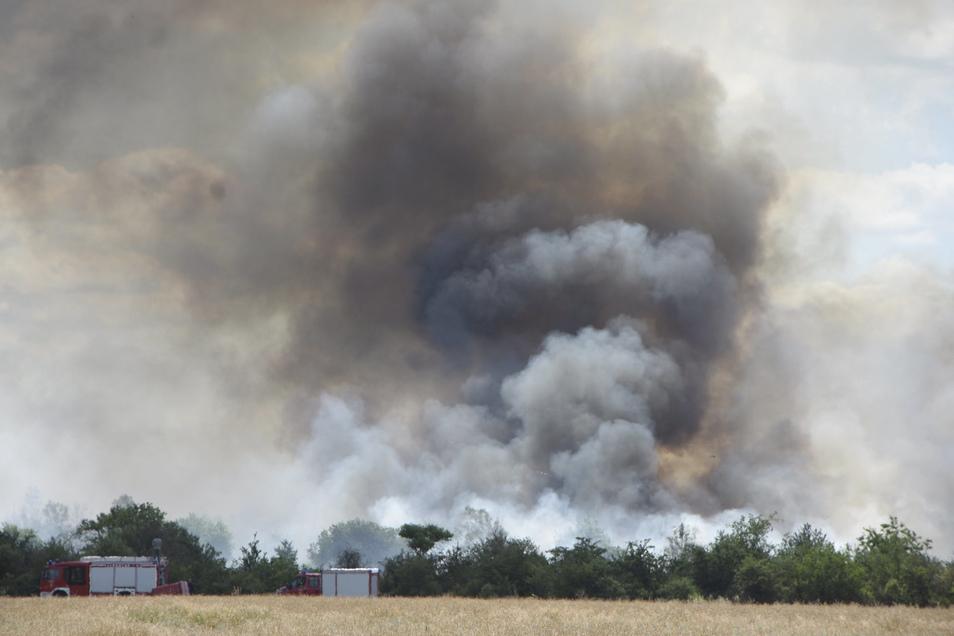 So sah der Brand aus Richtung Jacobsthal aus.