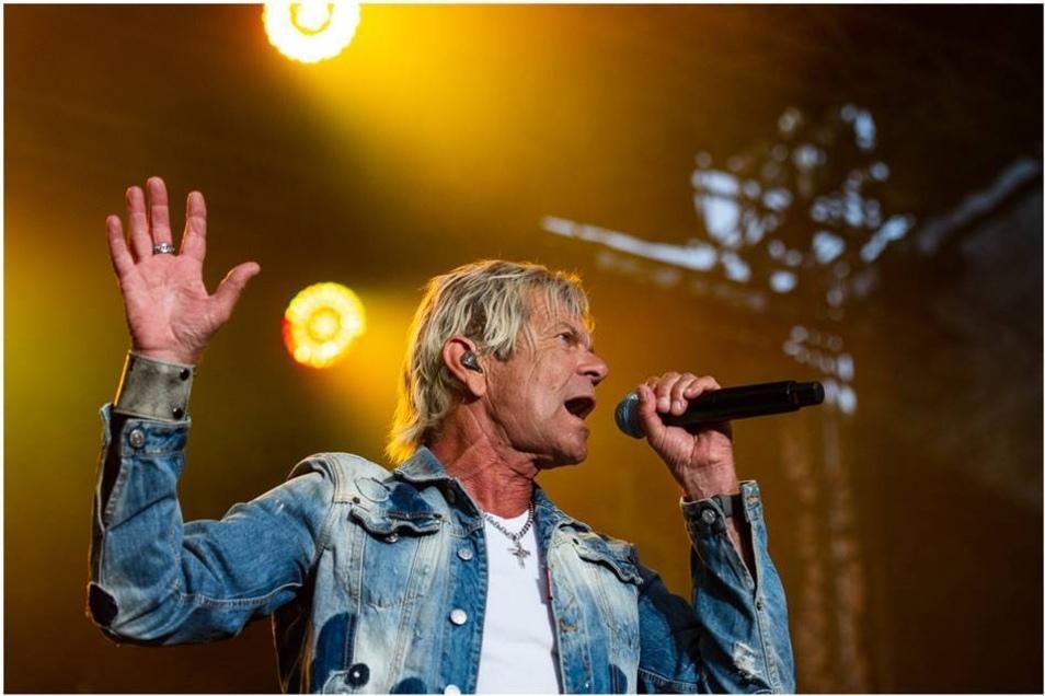 Matthias Reim war am Freitag mit einem Open-Air-Konzert in Görlitz.
