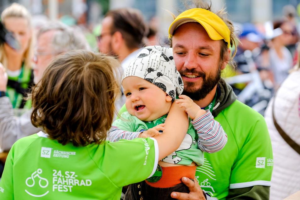 Am Fahrradfest nehmen jedes Jahr Tausende teil, auch die ganz Kleinen.