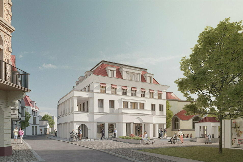 Auch Petra und Paul Kahlfeldt Architekten PartG mbB haben sich mit diesem Entwurf am Architekturwettbewerb beteiligt.