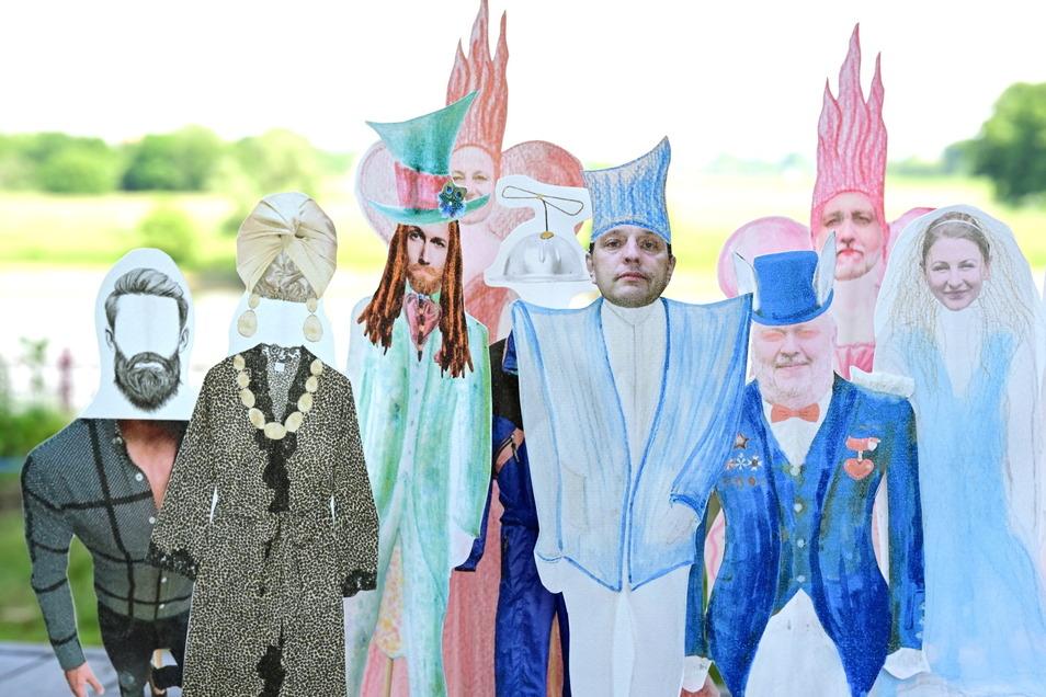 Von Anne Konstanze Lahr sind die Entwürfe für die Kostüme, mittendrin der Minister für Ordnung, den Mario Grünewald spielt.