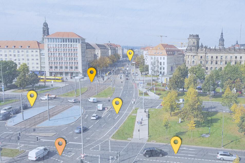 Der Pirnaische Platz in Dresden gehört zu den Unfallschwerpunkten in Dresden. Sechs Unfälle mit Verletzten passierten dort im vergangenen Jahr.