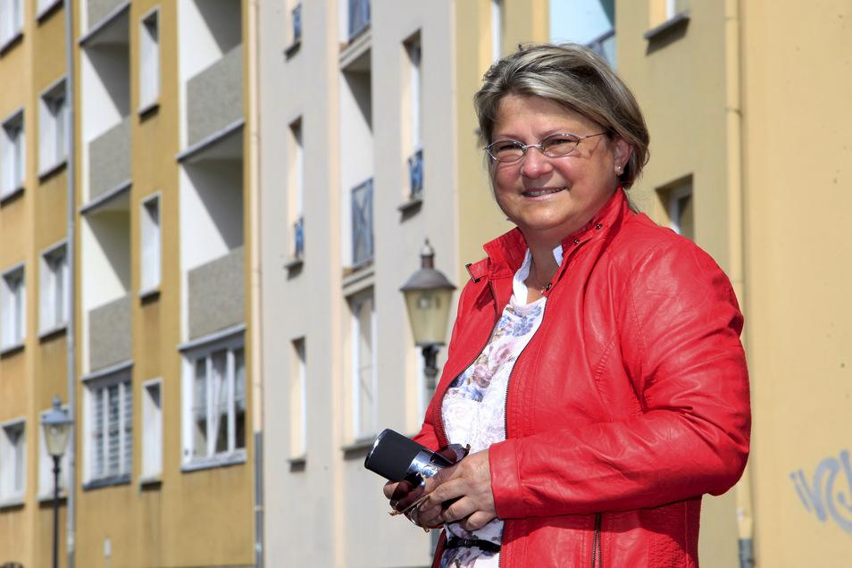 Uta-Sylke Standke, Geschätsführerin der Zittauer Wohnbaugesellschaft, bekam nach einem Aushang Ärger.