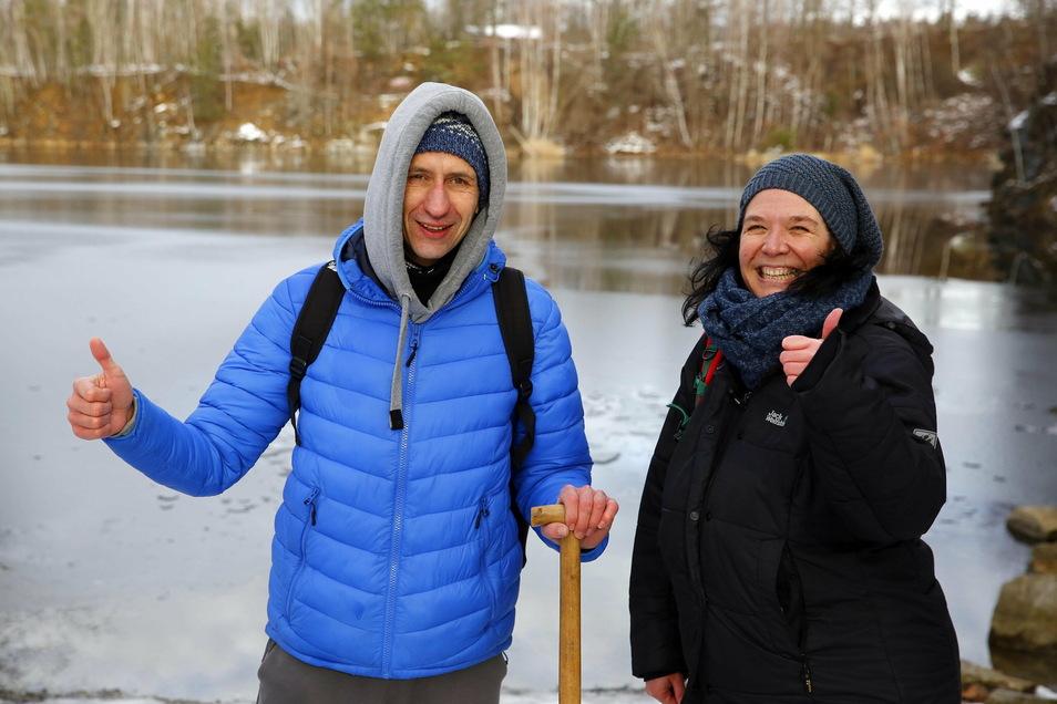 Gut gemacht fürs erste Mal! So kommentiert Sportler, Reiki-Meister und Wim-Hof-Fan Jens Würtenberger den Eisbade-Test von SZ-Autorin Ina Förster.