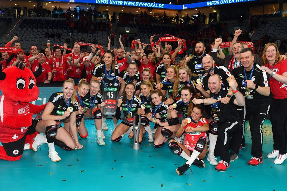 Pokalsieger Dresdner SC ist Vorreiter in Sachen Darlehenszahlung aus dem Förderpaket des Freistaates.