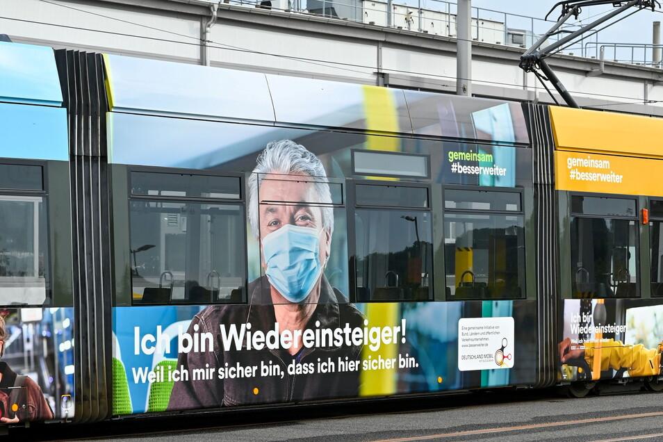 Werbung in eigener Sache: Mit der Kampagne #Ich bin Wiedereinsteiger! buhlen Dresdens Verkehrsbetriebe um alte und neue Kundschaft.