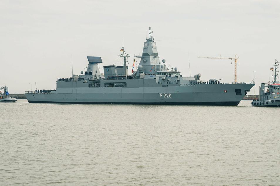 """Deutschland beteiligt sich derzeit mit der Fregatte """"Hamburg"""" an der EU-Operation Irini."""
