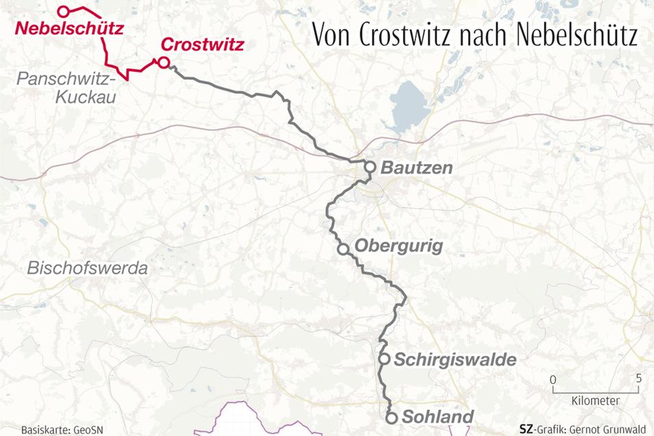 Die fünfte und letzte Etappe führte die SZ-Reporterinnen von Crostwitz nach Nebelschütz.