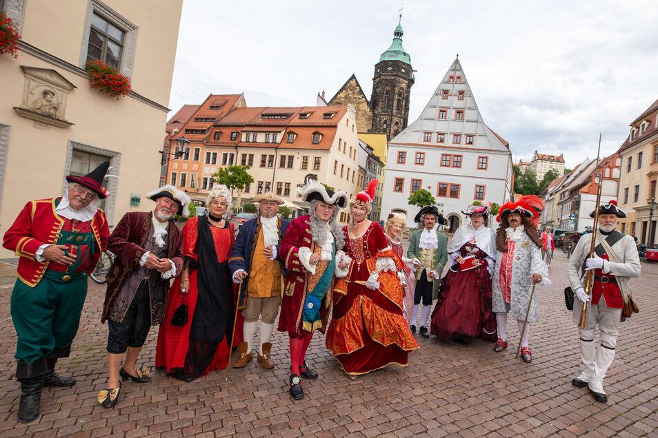 Der Dresdner Hofstaat gibt sich am Sonntag, ab 10 Uhr, in Pirna die Ehre.