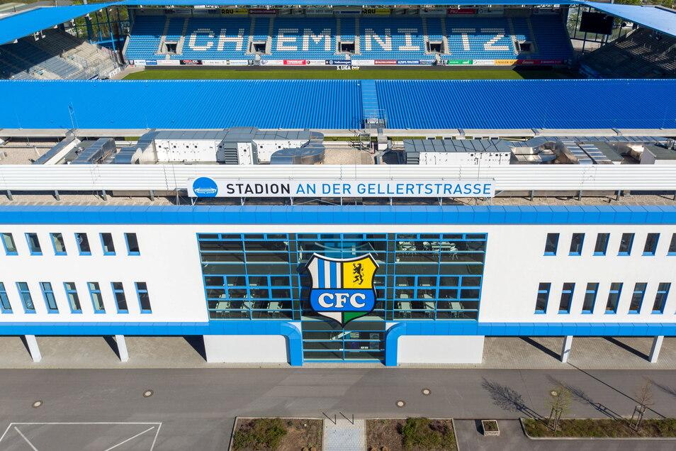 Im Chemnitzer Stadion wird vorerst nicht gespielt.