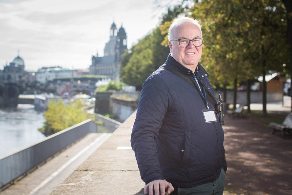 Er bringt mit seinem Team die Stadt zum Feiern: Frank Schröder ist jetzt Geschäftsführer der Dresdner Stadtfest GmbH.