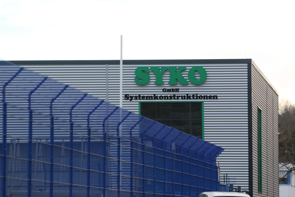 Die Firma Syko – hier die Halle an der Leisniger Straße – hat Insolvenz angemeldet, arbeitet aber weiter.