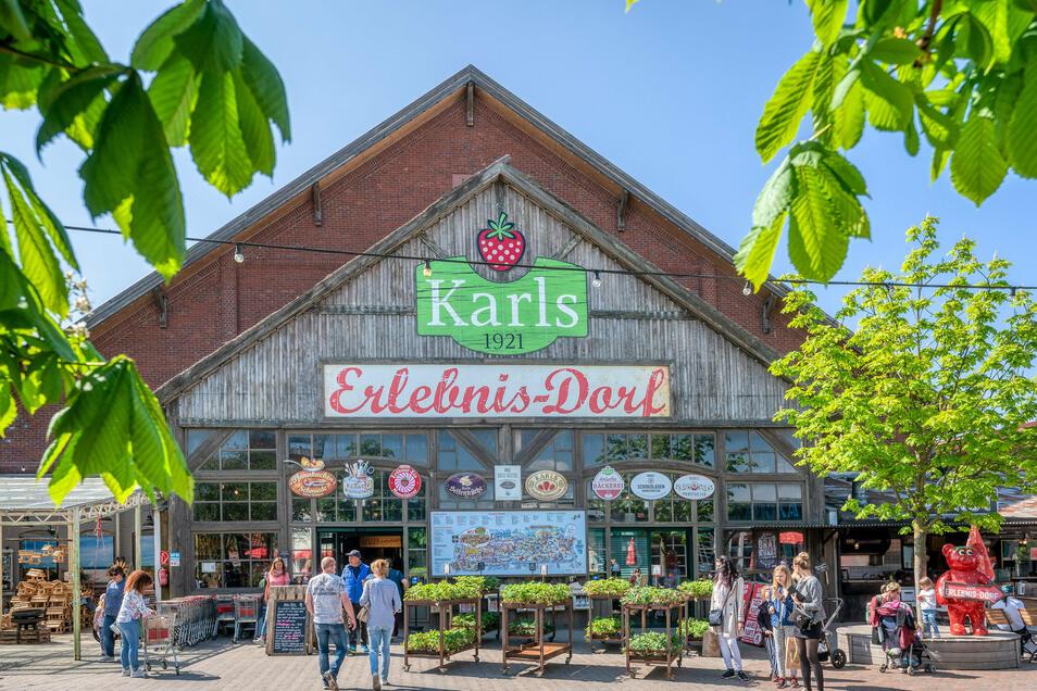 So bunt wie hier in Karls Erlebnis-Dorf in Rövershagen soll es auch in Döbeln zugehen. Attraktionen werden mit der Herstellung und dem Verkauf von Lebensmitteln und mit Gastronomie verbunden.