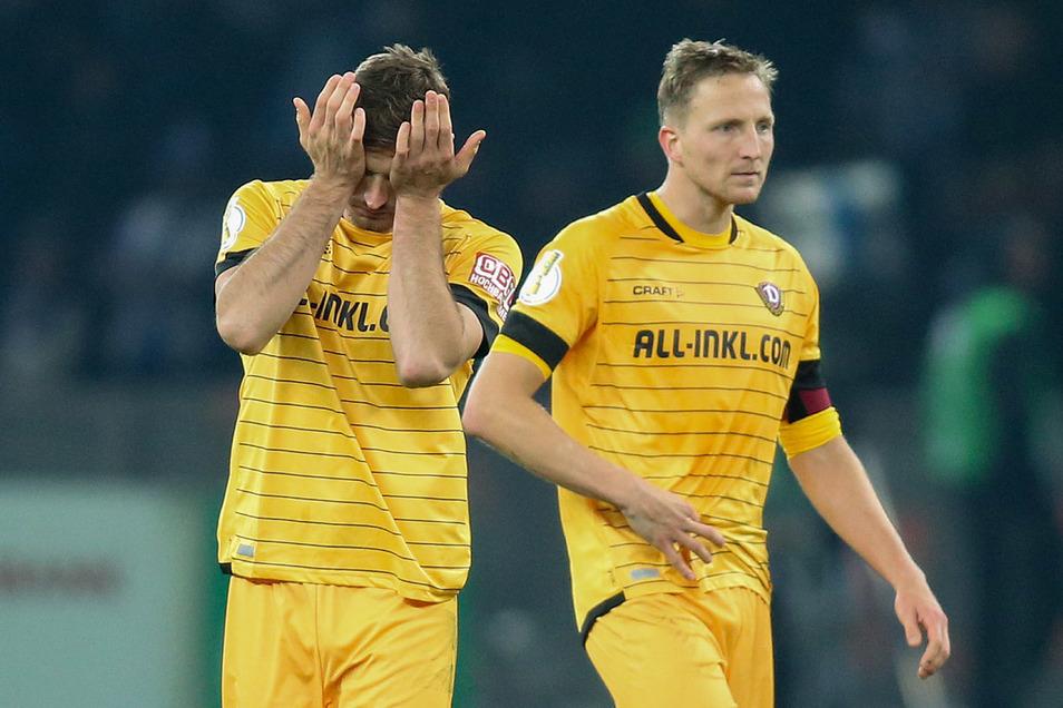 Florian Ballas (links) und Kapitän Marco Hartmann trainieren bei Dynamo wieder voll mit.