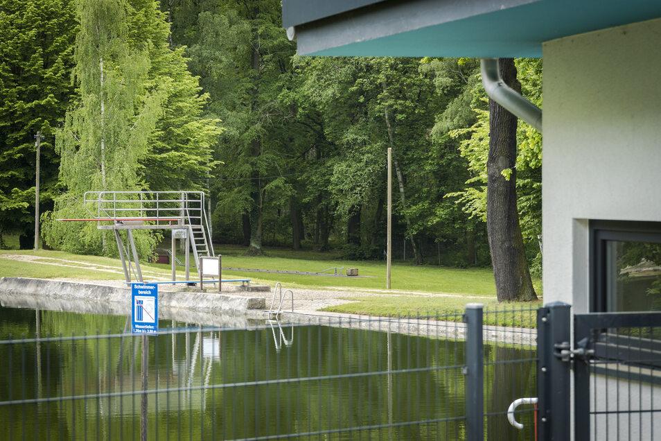 Im Waldbad Glaubitz ist man im Prinzip startklar für die Saison.