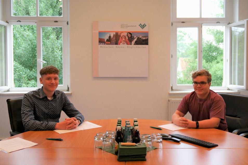 Neue Azubis bei der WGP: Jonathan Pfetzer und Martin Wagner.