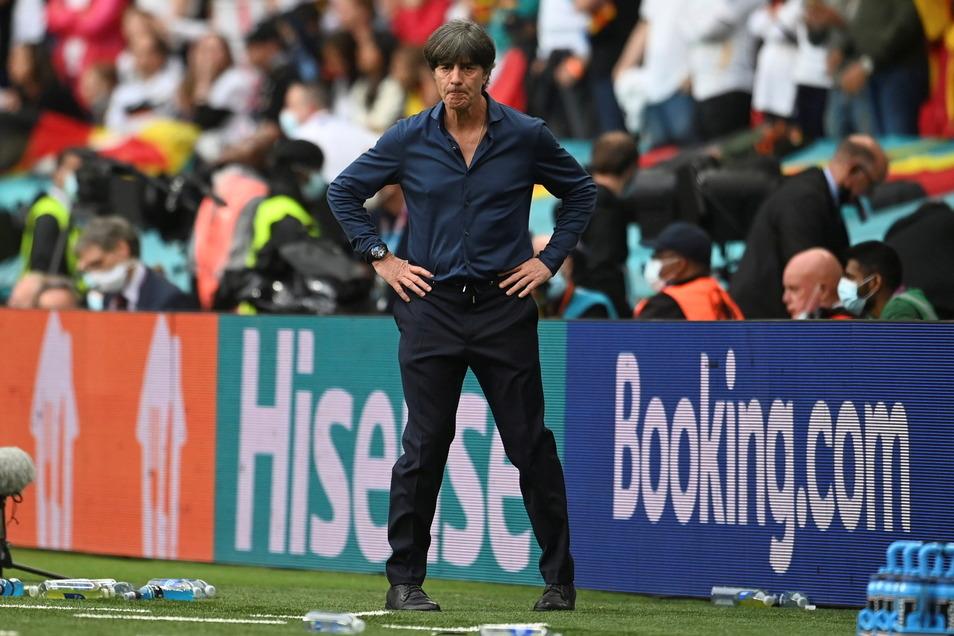 Während des Spiel war Joachim Löw sehr nach denklich. Es war sein letztes Länderspiel als Bundestrainer.