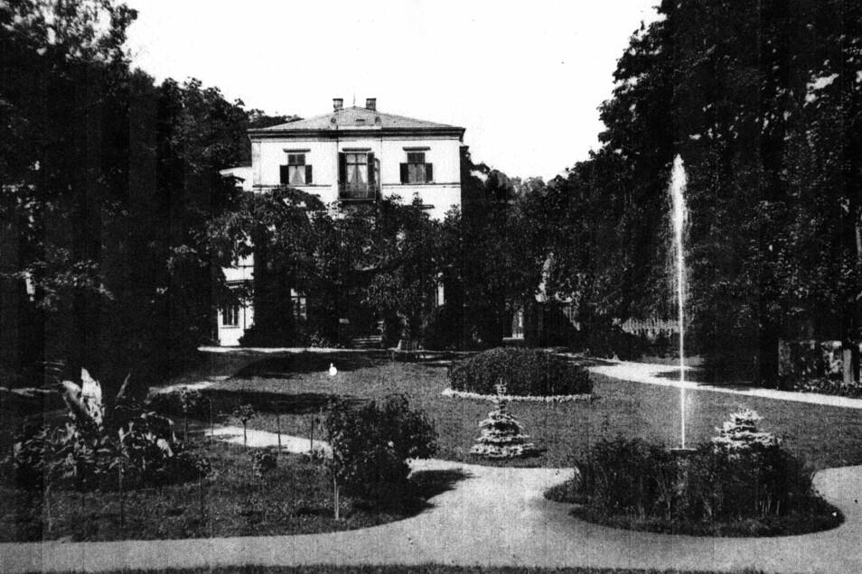 So schön war mal der Goldschmidt-Park oberhalb der Terrassenstraße und der Straße Auf den Bergen. Den Park hatte Bankier Goldschmidt zur Nutzung auch den Bürgern der Stadt geöffnet.