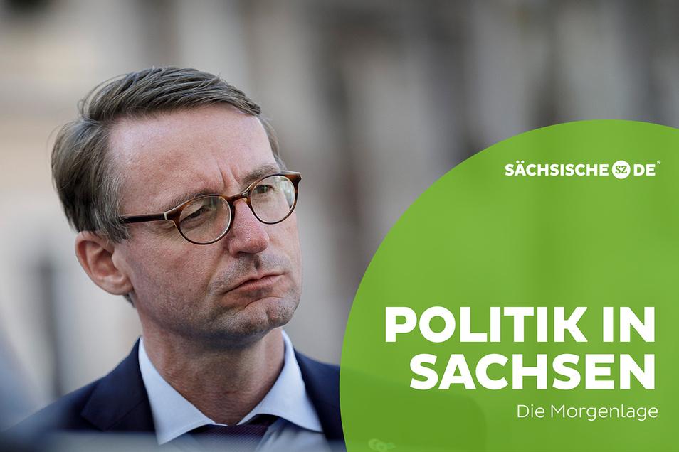 Sachsens Innenminister Roland Wöller (CDU) steht nach dem Demowochenende in Leipzig stark in der Kritik.