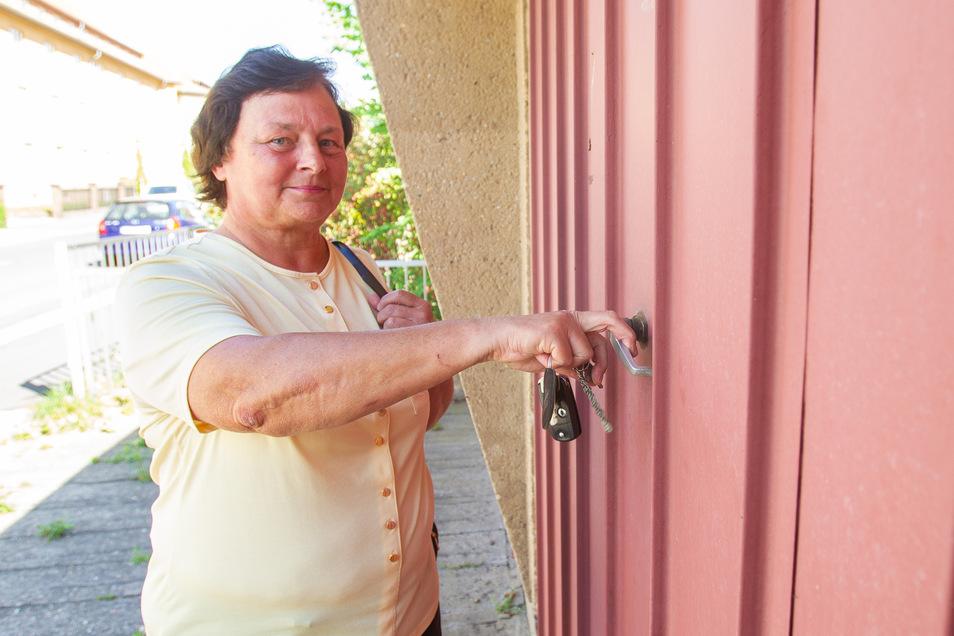 Ende Mai muss Gisela Bärthold die Schlüssel für die Garage abgeben.