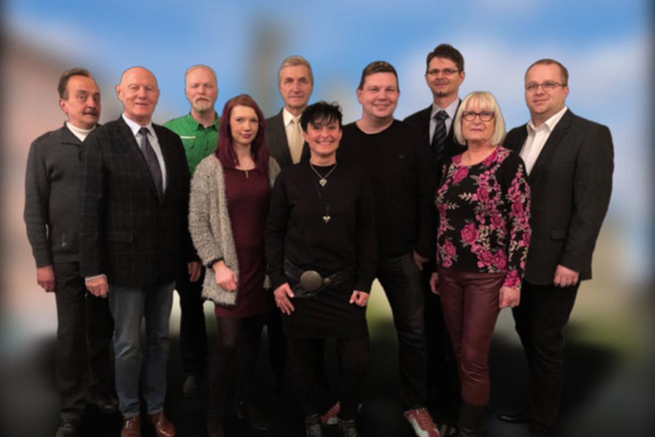 Die Kandidaten von FUW;Dietrich Thiele, Andreas Mannschott, Wolfgang Wauer, Frank Grübe, Alexander Lurtz, Susanne Wauer, Ingrid Thiele, Alexander Sterz, Roy Kleint, Karin Sagstetter.