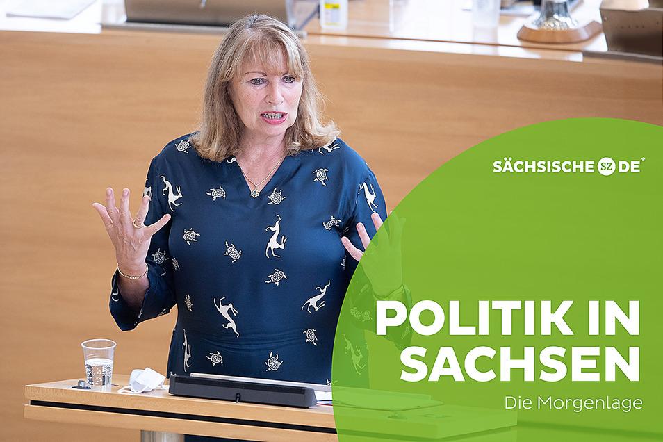Sachsens Gesundheitsministerin Petra Köpping hat am Mittwoch im Landtag ihre Corona-Politik verteidigt.