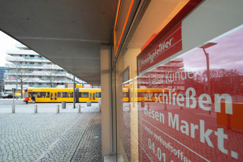 Das wars in der Pfennigpfeiffer-Filiale an der Waldstraße. Sie hat geschlossen.