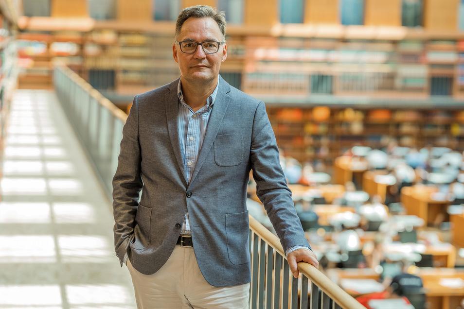 Achim Bonte, Generaldirektor der Sächsischen Staats-, Landes- und Universitätsbibliothek (Slub)