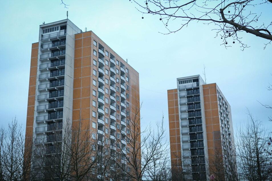 Hochhäuser wie diese an der Prohliser Allee gibt es einige in Dresden. Das Hochhausleitbild gibt vor, wo künftig noch weitere entstehen könnten.