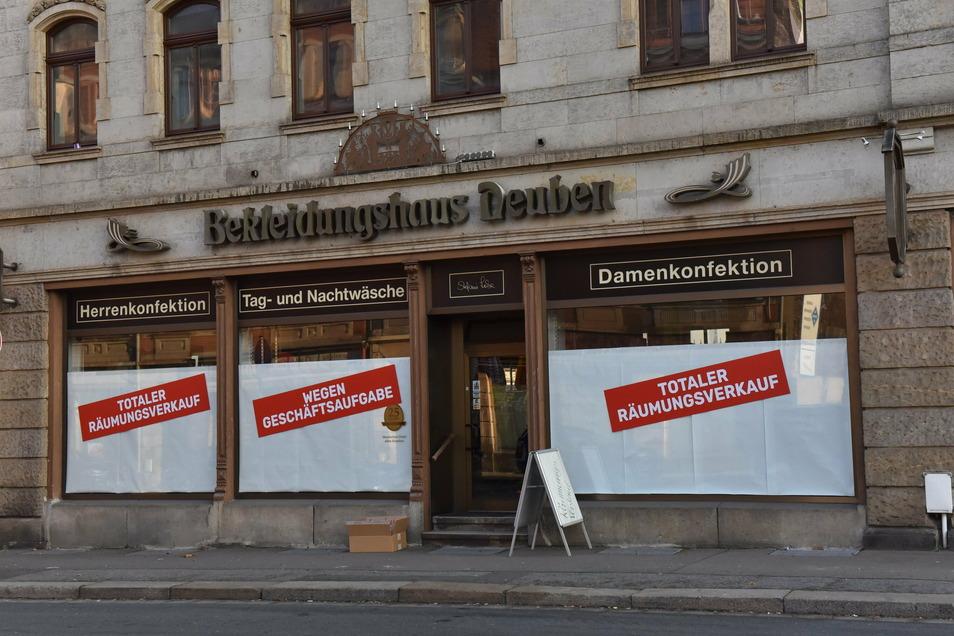 Bekleidungshaus Freital Deuben schließt Ende Dezember 2020