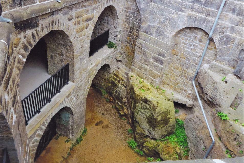Festung Sonnenstein in Pirna: Das Niedere Werk hat die Zeiten fast vollständig überdauert.