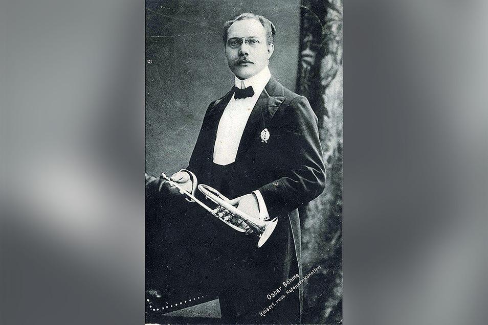 Trompeter Oskar Böhme stammte aus Potschappel, wurde in Russland berühmt und später ermordet.