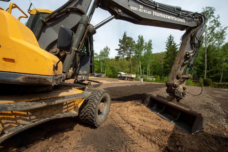 Die Erdarbeiten für den neuen Caravanstellplatz sind in den letzten Zügen