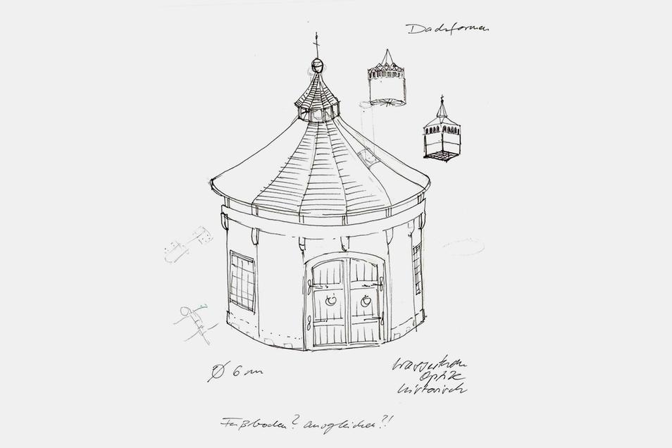 So könnte Bautzens neue Märchenhütte laut erster Skizzen aussehen.