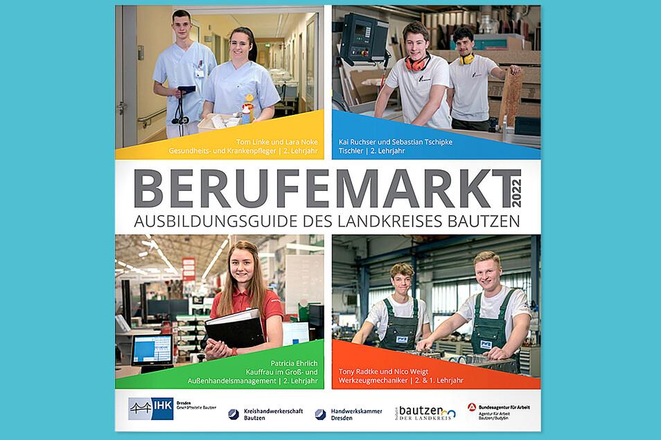 Im Berufemarkt-Ausbildungsguide für den Landkreis Bautzen stellen sich sich 115 Betriebe, Unternehmen und Bildungseinrichtungen mit mehr als 120 Ausbildungsberufen vor.